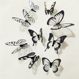 $enCountryForm.capitalKeyWord Australia - 18pcs lot 3d Effect Crystal Butterflies Wall Sticker Beautiful Butterfly for Kids Room Wall Decals Home Decoration On the Wall MH104