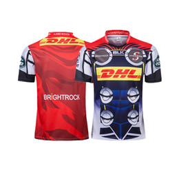 03a61314d35 Stormers Rugby Shorts UK - 2019 NEW ZEALAND Super RUGBY STORMERS SUPER HERO RUGBY  JERSEY size