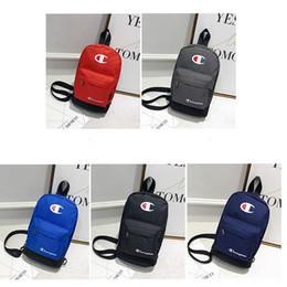 Styles Backpacks Australia - Champion Brand Single Shoulder Bag Crossbody Chest Bags Unisex Designer Oxford Tote Purses Fanny Bag Handbags Backpack style 5 Color C51103