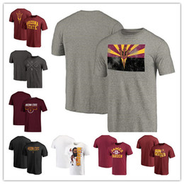 Wholesale State Flag Arizona State Sun Devils Short Sleeve T Shirt Fashion Summer T Shirt Round neck tee shirt