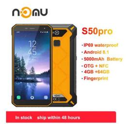 "$enCountryForm.capitalKeyWord NZ - Nomu S50 Pro 2019 Smartphone Android 8.1 IP69 IP68 Waterproof Shockproof Mobile Phones 5.72"" HD 8MP+16MP NFC Fingerprint+Face ID"