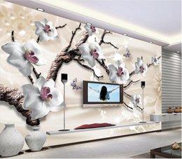 Luxury modern waLLpaper online shopping - WDBH custom photo d wallpaper Luxury jewelry flower tv background painting living room home decor d wall murals wallpaper for walls d