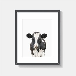 $enCountryForm.capitalKeyWord UK - The Cow Portrait animal Minimalist Art Canvas Painting HD Wall Picture Poster And Print Decorative Home Decor