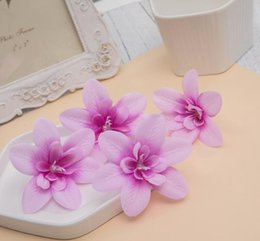 $enCountryForm.capitalKeyWord Australia - Artificial Flower Orchid Head For Bride Hair Clip Xmas Brooch Craft Wedding GB578