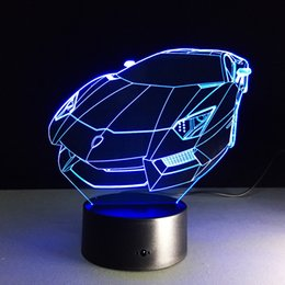 $enCountryForm.capitalKeyWord Canada - 3D Table Lamp Colorful LED Nightlight Sport Car Model Touch Atmosphere Lamp for Car Fans Bedroom Decor Child Christmas Gift