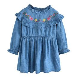 Lace up toddLer pageant dress online shopping - Toddler Kids Baby Girls Clothes Embroidery Party Wedding Pageant Princess Dress Summer dress up European Style