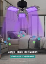 À double usage pliant UV désinfectant germicide lampe ampoule de poche uv lumière désinfection Lampe Home Office Garage Lumière outil de nettoyage en Solde
