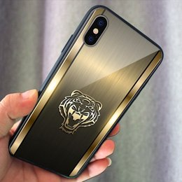 Iphone Cases Gold Color Australia - Luxury Phone case Gold Color Tiger Phone Tempered Glass Phone Cover for Samsung s10e s10+ note9 s9 iphone xsmax 7 8 plus