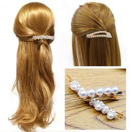 $enCountryForm.capitalKeyWord Australia - hair clips for women full pearls hair pin fashion style metal Metal Ponytail holder Hairpins BB Hairclip Girls Accessories