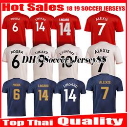 d9930d888 2018 2019 Soccer Jersey ALEXIS Sanchez away 1819 MARTIAL LUKAKU POGBA  RASHFORD LINGARD ANDER HERRERA United third jerseys football Shirts