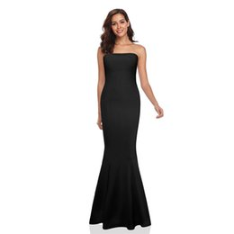 $enCountryForm.capitalKeyWord Australia - New Sexy Women Strapless Wrapped Long Maxi Dress Formal Wedding Evening Party Gown Bridesmade Prom Mermaid Trendy White Dresses NB-1086