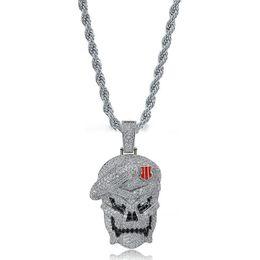 Pendant Jewelery Australia - Designer Jewelry Mens Gold Necklace Skull Pendant 2019 New Fashion Hiphop Jewelery Bling Cubic Zirconia Men Hip Hop Necklace
