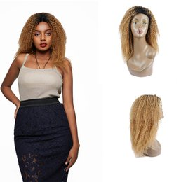 $enCountryForm.capitalKeyWord Australia - Shiningstar 100% Human Hair Wigs Peruvian Kinky Curly 1b 27 color 10-24 inch With 150% Desnity Lace Front Thick Virgin Hair