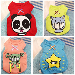 Summer Dog Shoes Australia - New Summer Dog Clothes Apparel Cat Vest Small Sweater Pet supply Cartoon Clothing Cotton t shirt For Puppy Poodle Cheap Jumpsuit Outfit
