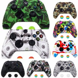 xbox thumb grips UK - ugTw4 1Set Grips Protective Case Cover Silicone Cap with Thumb for Grips XBox One X S Gaming Controller