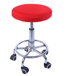 wholesale stools chairs NZ - Elastic Bar Chair Cover Stool Seat Cover Round Bar Stool Tabouret de Housse de Chaise Chair Slipcover