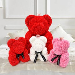 Pink Gift Ideas Australia - teddy rose bear valentines day gift idea flower foam giant