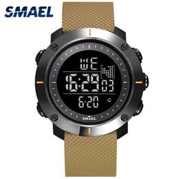 Men Digital Wrist Watches Australia - Digital Watches Men Stopwatch With 50M Water Resistant Rubber Bracelet Alarm Back Light Clock 1711 Men Sport Wrist Watch Digital
