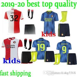 top quality youth soccer jerseys Canada - TOP best quality Feyenoord kids youth childs 19-20 home away LARSSON V.PERSIE BERGHUIS VILHENA JORGENSEN 2019 football soccer jersey