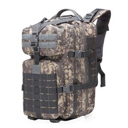 wool fiber Australia - Cycling Camouflage Backpack Multifunction Backpack Casual Lage Bag Oxford Outdoor Camping Treasure Bag