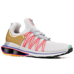 bfe66e985f6 Sport Shox running ShoeS online shopping - Shox Gravity Metallic Gold Mens Running  Shoes Triple White