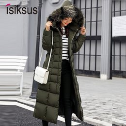 Parka For Woman Black Australia - Isiksus Padded Warm Down Jackets Womens Winter Plus Size Long Quilted Black Hooded Fur Coat Jacket 2018 Parkas for Women WP013 T5190612