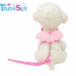 $enCountryForm.capitalKeyWord Australia - Transer Cute Angel Pet Dog Leads and Collars Set Puppy Leads for Small Pet Designer Wing Adjustable Harness 11Feb5