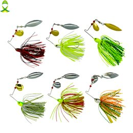 Jigs Lures For Fishing Australia - JSM 10 pcs lot fishing spoon lures spinner bait for Bass Pike fishing wobbler metal baits spinnerbait isca artificial hard lure JSM 10