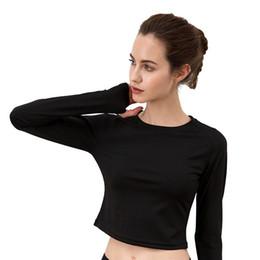 e8a6031b5b5bf Yoga Top Padded T-shirt long sleeve Shirts Patchwork Gym Camouflage black  Crop Tops Mesh Fitness Running Sport T-Shirts  333841