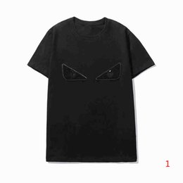 high quality mens shirts Canada - 20s Mens T shirts Summer Tops Tee High Quality Eyes Decoration Short Sleeve Shirt for Men Wholesale S-2XL