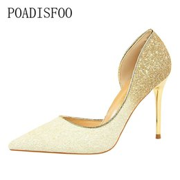 $enCountryForm.capitalKeyWord UK - Dress Shoes POADISFOO high-heeled shallow mouth pointed sexy nightclub thin color gradient spell color sequins side hollow .DS-868-9