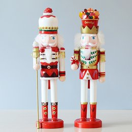 nutcracker gifts wholesale 2019 - 38cm height Nutcracker Soldiers ornaments home decorations for Christmas and Feative and Parrty Gift individual packing