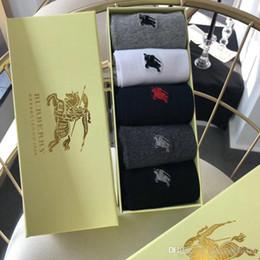 $enCountryForm.capitalKeyWord Australia - Mens designer socks embroidery Tiger head stripes off black white cotton sports socks for man woman casual shoes fear god vetements