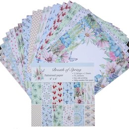 scrapbooking paper pads 2021 - 24pcs lot 6 Inch Scrapbooking Pads Paper Breath of Spring Origami Art Background Paper Card DIY Birthday Scrapbook Paper Craft