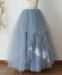 $enCountryForm.capitalKeyWord Australia - Long Women Tulle Skirt TUTU Bohemian Tulle Skirt Bridal Gown Skirt Bridal Dress Underskirt Petticoat Adult Prom Skirts TS0026