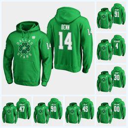 14 Jamie Benn Dallas Stars 2019 St. Patricks Day Hoodie 91 Seguin Roman  Polak Ben Bishop Alexander Radulov Miro Heiskanen Hockey Jersey 4d0b8b1fc