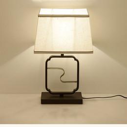 Классическая выставка ткани светодиодные настольные лампы E27 настольная лампа для офиса стоя освещение спальня исследование домашнего декора гостиной G419