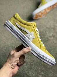 $enCountryForm.capitalKeyWord Australia - New TTC The Creator x One Star Golf Ox Le Fleur Wang Suede Green Yellow Beige Sunflower Casual Skate Shoes Sneakers 6 Colors Bag box