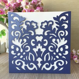 $enCountryForm.capitalKeyWord Australia - 35PCS  lot High-end Hollow Laser Cut Wedding Invitation Cards Exquisite Decorations Party Invitations Traditional Festival Blessing Supplies