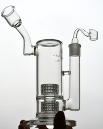 Stereo Matrix Australia - Mobius Stereo Matrix perc- 2 layers Heady Big Glass Bong Water Pipes Recycler Oil Rigs 18mm Hookahs Shisha 11 inches