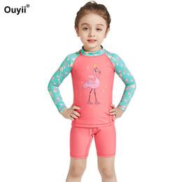 $enCountryForm.capitalKeyWord Australia - Newest Kids Swimsuit Swimwear Two Piece Bathing Suit Children Sunscreen Swimming Suit Wetsuit Beachwear Diving For Boy Girl