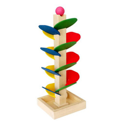 teaching aids for year UK - Montessori Toys Educational Wooden Toys for Children Early Learning Wood Tree Flying Beads Game Preschool Teaching Aids