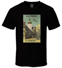 $enCountryForm.capitalKeyWord UK - TWA airlines vintage poster 1 Black T Shirt Funny free shipping Unisex Casual Tshirt top