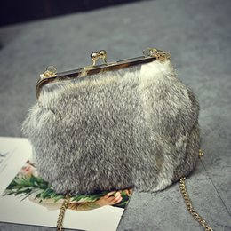 extra hair NZ - Angel2019 Winter Leather And Fur Rabbit's Hair Baby Bag Tide Single Shoulder Span Woman Package