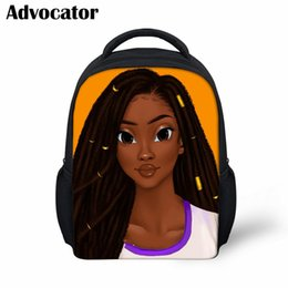 $enCountryForm.capitalKeyWord Australia - ADVOCATOR Black Art African American Girls Pattern School Bags for Kids Bookbag Girls Boy Custom Name Mochila Preschool Backpack