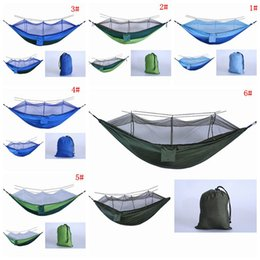 $enCountryForm.capitalKeyWord NZ - Foldable Mosquito Net Hammock Parachute Cloth Outdoor Hammock Field Camping Tent Garden Camping Swing Hanging Bed With Rope Hook DBC VT1737