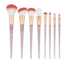 $enCountryForm.capitalKeyWord UK - 8pcs set Crystal Makeup Brushes Sets Powder Foundation Eyeshadow Blush Brush Kits Professional Blending Makeup Brushes Beauty Tools HHA378