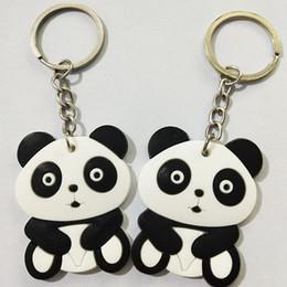 $enCountryForm.capitalKeyWord Australia - 1 PC Cute Cartoon Panda Keychain Keyring Bag Pendant Silicone Animals Panda Handbag Key Ring Chain Women Christmas Gift
