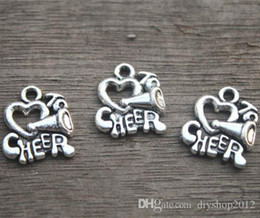 $enCountryForm.capitalKeyWord Australia - 20pcs--I love to cheer charms, Cheerleader Megaphone Charm pendants, Cheer, Cheerleading 16x14mm11