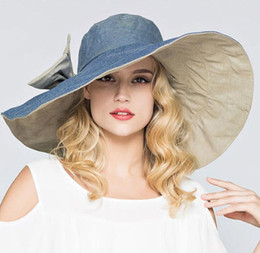 New 2019 Summer Fashion Floppy Hats Casual Vacation Travel Wide Brimmed Sun  Hats Big Heads Foldable Beach Hats For Women Sun Cap Bone Gorras 941b9a4e7b5